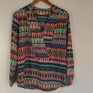 Women's Adrienne Tribal Multicolor Blouse/Tunic